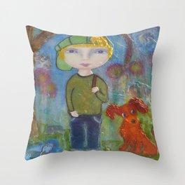 Anton & Gumbo - Whimsies of Light Children Series Throw Pillow