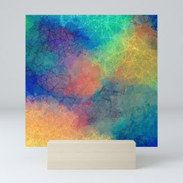 Reflecting Multi Colorful Abstract Prisms Design Mini Art Print