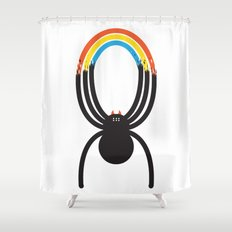 Spiders Are Rainbows Shower Curtain