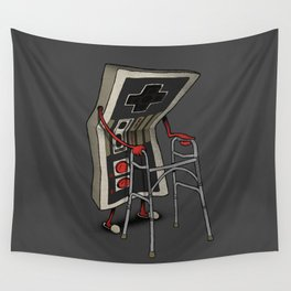 Old Gamer Wall Tapestry