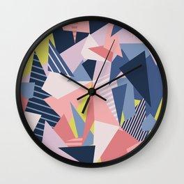 Color Blocking Chaos 1 Wall Clock