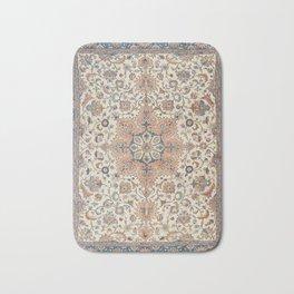 Fine Persia Tabriz Old Century Authentic Colorful Blue Rust Orange Vintage Patterns Bath Mat