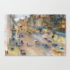 New York City Street View form High Line Canvas Print