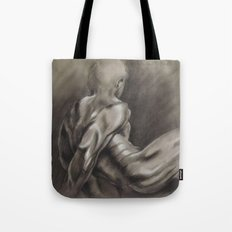 Nude Male Figure Study, Black and White.  Tote Bag