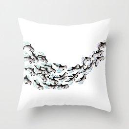 Vaquitas Throw Pillow
