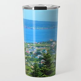 Bonaventure Island panoramic Travel Mug