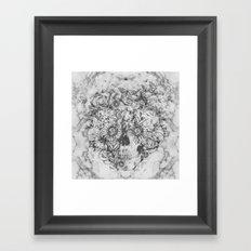 Bookmatched Skull Framed Art Print