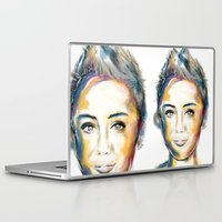 miley cyrus Laptop & iPad Skins featuring Miley Cyrus by caffeboy