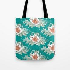 hibiscus surf retro Tote Bag