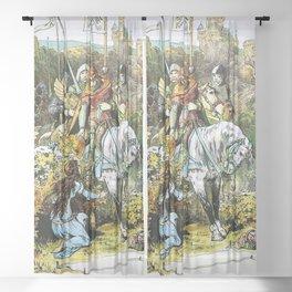 12,000pixel-500dpi - Alexander Zick - The Three Sister - Digital Remastered Edition Sheer Curtain