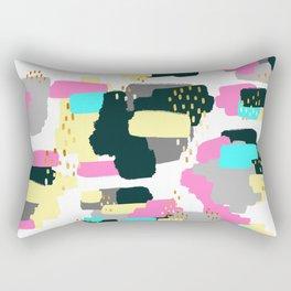 Abstract Doodle Painting Rectangular Pillow