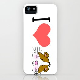 I love / Heart Guinea Pigs iPhone Case