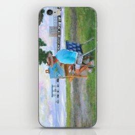 Painter on the Beach iPhone Skin