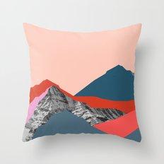 Graphic Mountains Throw Pillow