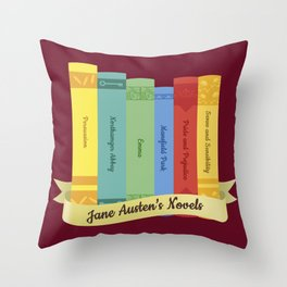 Jane Austen's Novels IV Throw Pillow