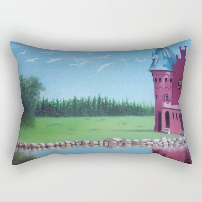 """The Spell"" (Wild Swans) Rectangular Pillow"