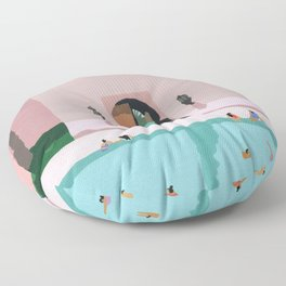 Middle Eastern Swims Floor Pillow