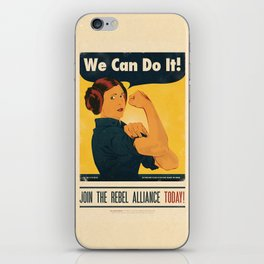 Leia the Riveter 2: The Alliance Strikes Back iPhone Skin