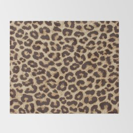 Leopard Print Throw Blanket