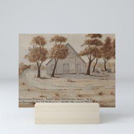 H.E. Valentine - Hatteras Church, five miles from Hatteras Inlet, N. Carolina, July 1863 Mini Art Print