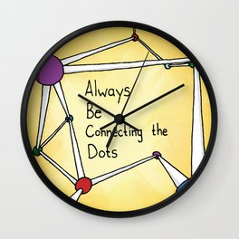 Always Be Connecting the Dots #ABCD Wall Clock