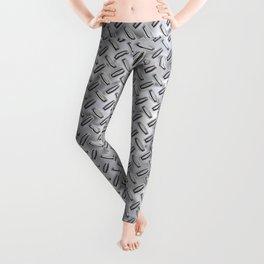 Silver Stud Metal Leggings