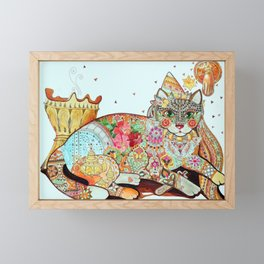 Maghreb Cat Framed Mini Art Print