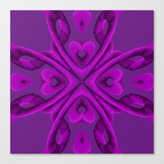 Hot Pink Hearts Canvas Print