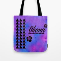 ohana Tote Bags featuring Ohana by Lonica Photography & Poly Designs