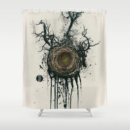 Bird Nest Shower Curtain