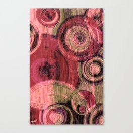 Red Round #3 Canvas Print