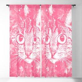 cat big eyes wspw Blackout Curtain