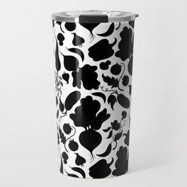 Vegetables black and white Travel Mug