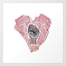 Untitled (Heart Fist) Art Print
