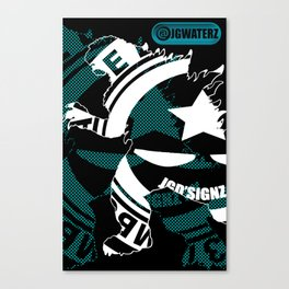 ZILLA THE THRILLER - JGWATERZ NYC Canvas Print