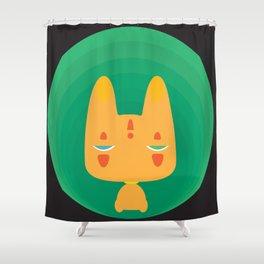 Little Fox [Black Ver.] Shower Curtain