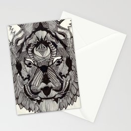 Tiger by Mieke Kristine Stationery Cards