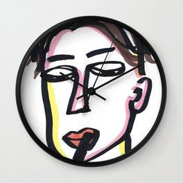 Gabriel - Marker Line Art Wall Clock