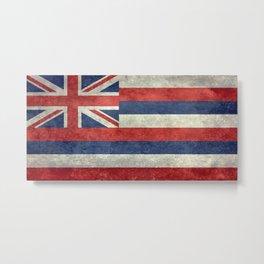 State flag of Hawaii - Vintage version Metal Print