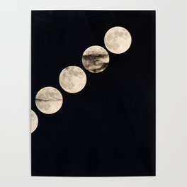 Full Moon Phases Poster