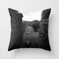 edinburgh Throw Pillows featuring Edinburgh by Jane Lacey Smith