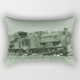 Rusting Tanks Rectangular Pillow