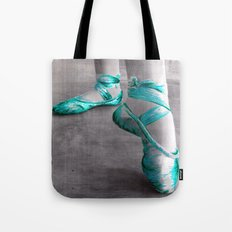 Ballet Shoe Blue Tote Bag