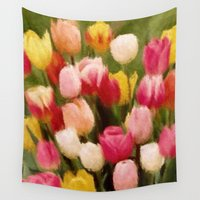 tulips Wall Tapestries featuring *Tulips* by Mr and Mrs Quirynen