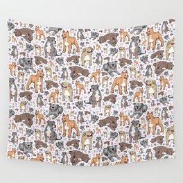 Cute Pitbulls Wall Tapestry