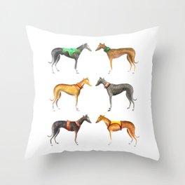 Greyhounds Throw Pillow
