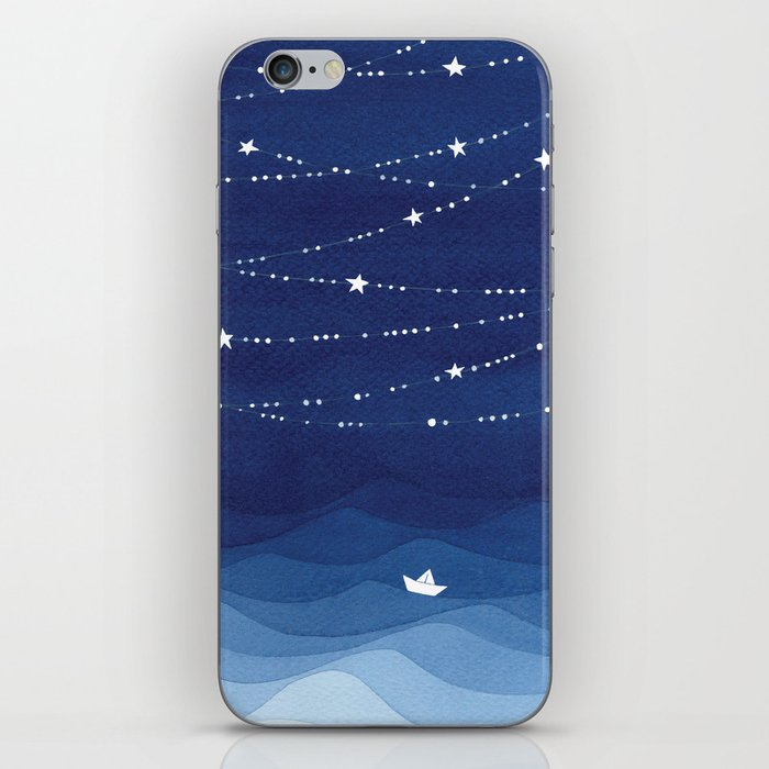 Garland of Stars IV, night sky iPhone Skin