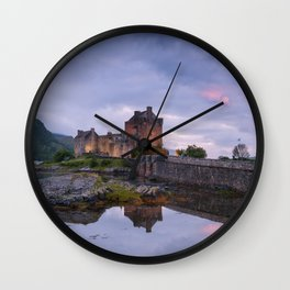 The Castle on the Lake Wall Clock