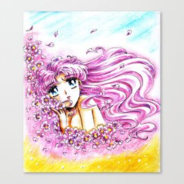 Princess Serenity Pink Hair Canvas Print