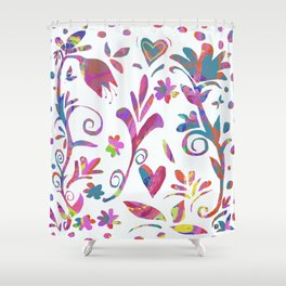 Fantasy Pink Flowers Shower Curtain